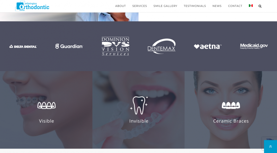 diseño página web clinica dental