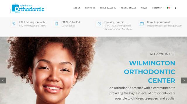 dental clinic web page design