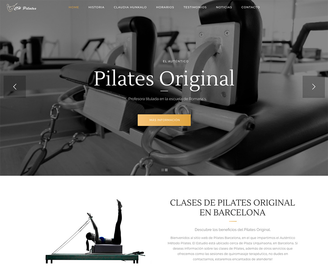 pagina web pilates